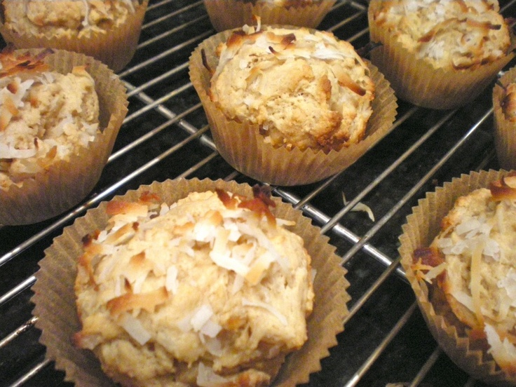 double coconut muffins | me encanta la comida. | Pinterest