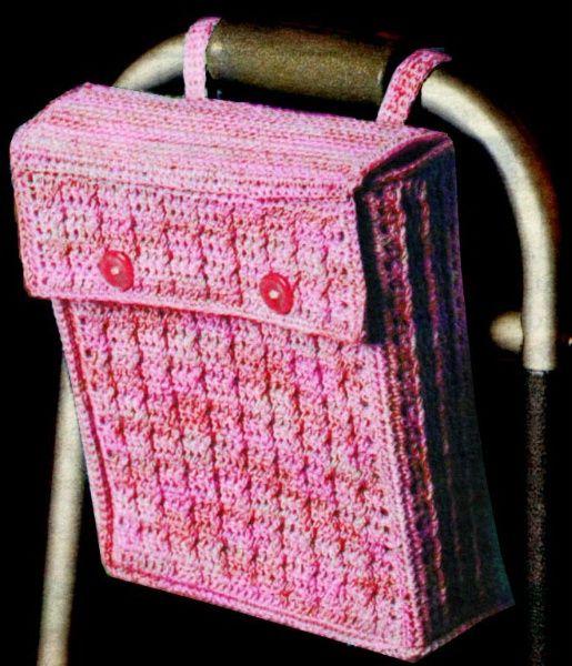 Crochet Patterns For Walker Bags : Walker / Wheelchair Bag - bill thomas Knit And Crochet ...