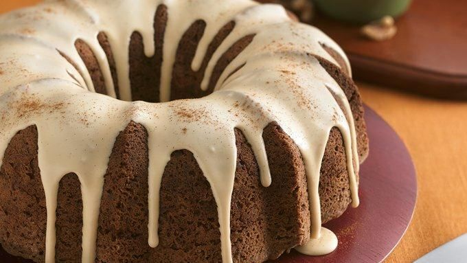 Apple-Walnut Cake with Caramel Glaze | Cakes, pies & cookies :) | Pin ...