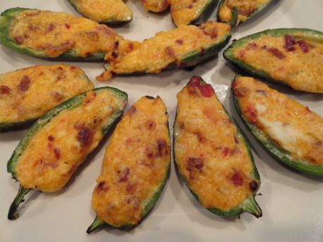 Grilled Cheddar & Bacon Jalapeno Poppers | foods to make | Pinterest