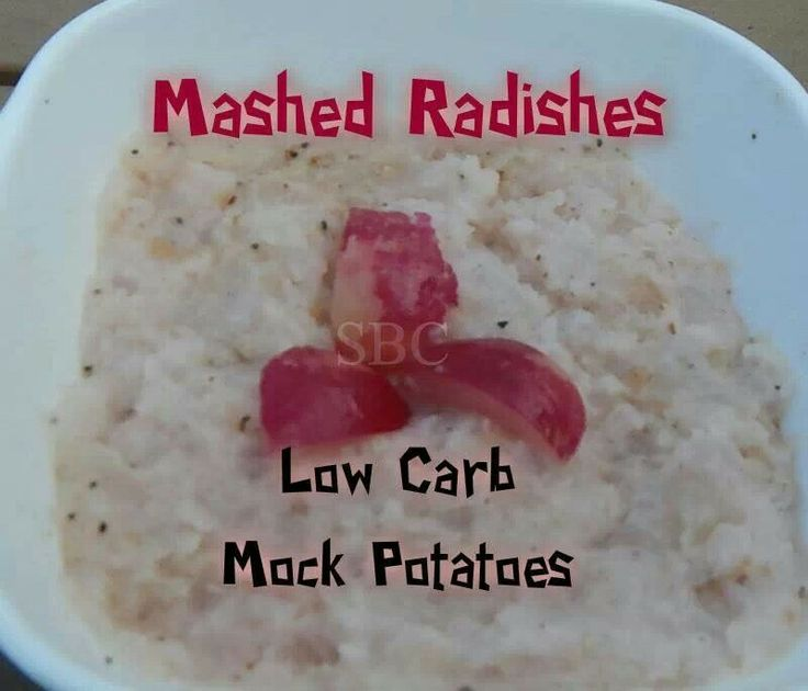 Mashed Radishes Low Carb Mock Potatoes | diet | Pinterest