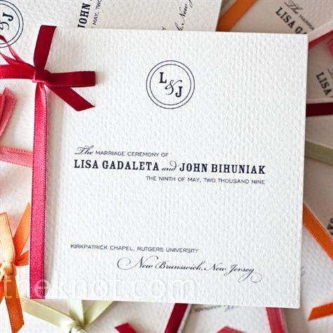 Wedding program booklet with ribbon wedding ideas pinterest