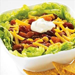 Simple Vegetarian Chili Salad. | SALADS ANYTIME | Pinterest
