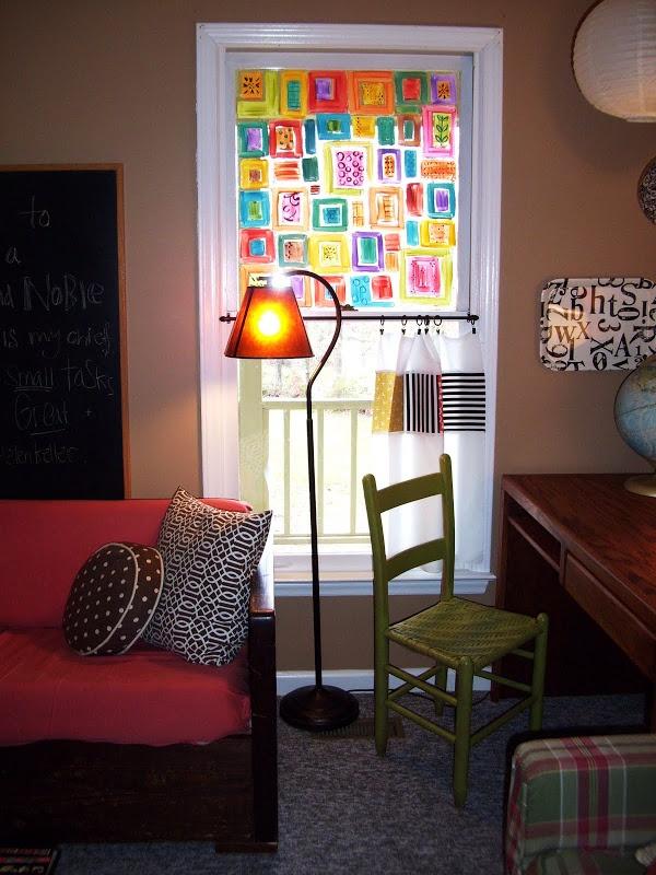 sara's art* house: Painted Window