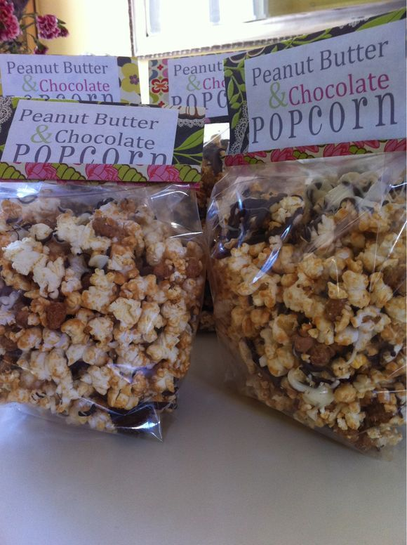 Peanut Butter + Chocolate + Pop Corn | Popcorn and Chex Mix | Pintere ...