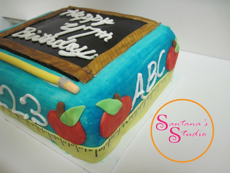 Teacher Birthday cake  Cakes Ive done  Pinterest