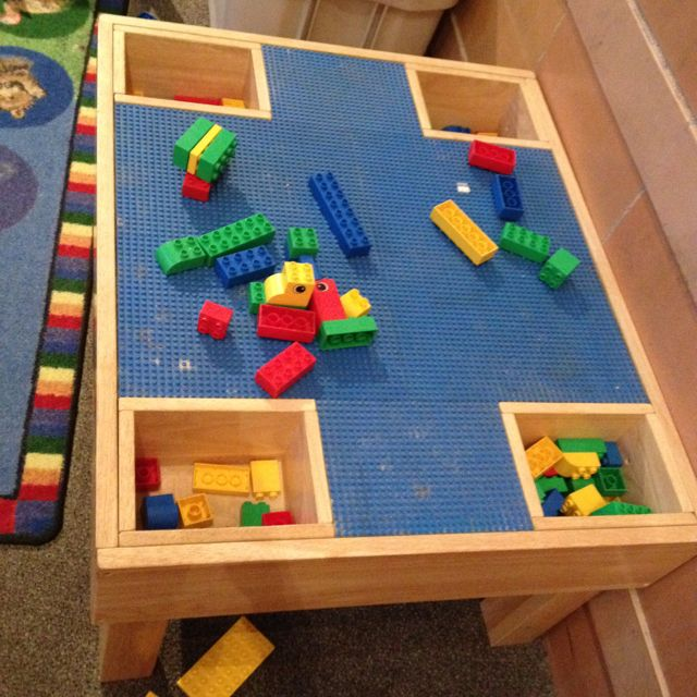 cute lego table art lego table pinterest. Black Bedroom Furniture Sets. Home Design Ideas