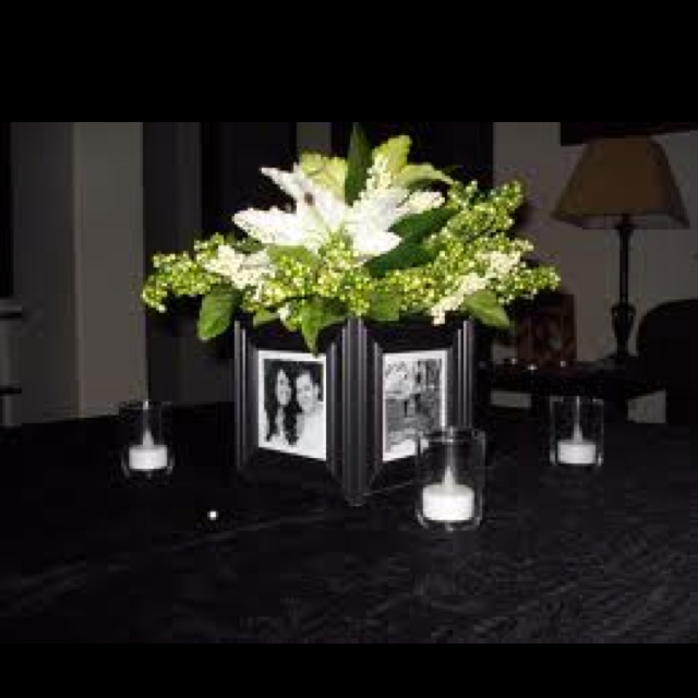 picture frame centerpiece wedding pinterest