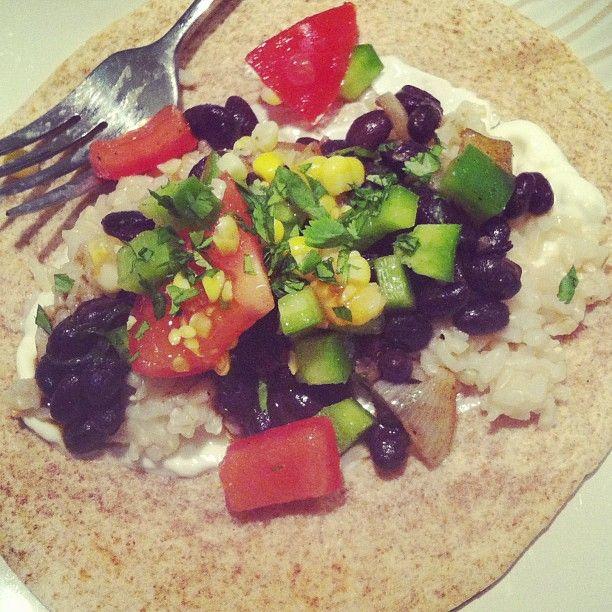 MADE veggie, black bean and brown rice burrito