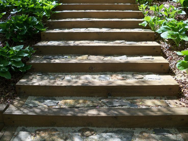 Build Landscape Timber Steps : Pin by j p on the farm