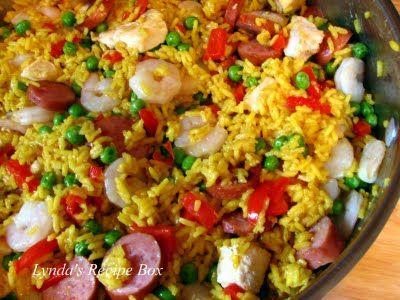 Easy Paella using Mahatma Saffron Rice