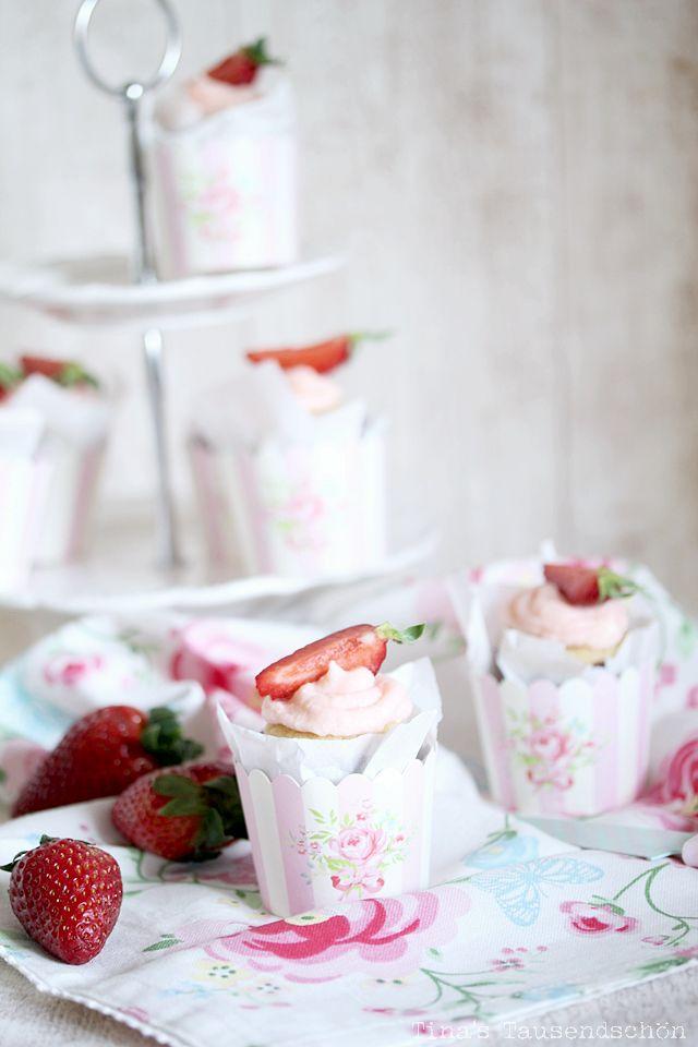 erdbeer daiquiri cupcakes tinas tausendschoen pinterest