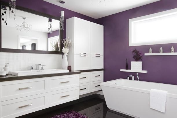 Salle de bains bain et vanit salle de bains pinterest - Vanite salle de bain contemporaine ...