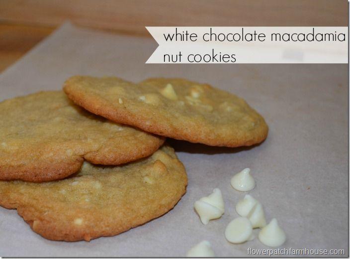 White Chocolate Macadamia Nut Cookies | finger foods | Pinterest