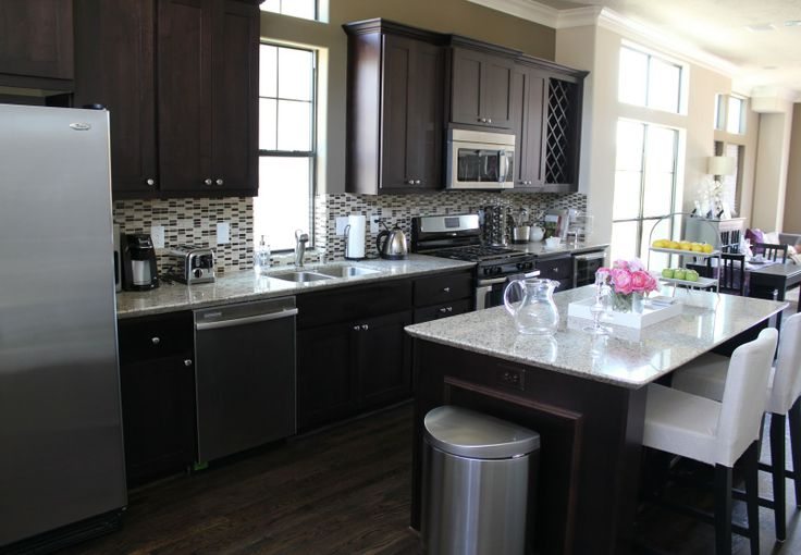 My Dream Kitchen Countertops : My dream kitchen open concept dark cabinets white