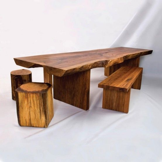 Wood Slab Dining Table Dream Home Pinterest