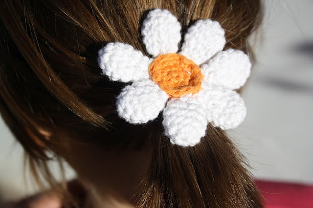 Crochet Hair Tie Crochet for my grandkids Pinterest