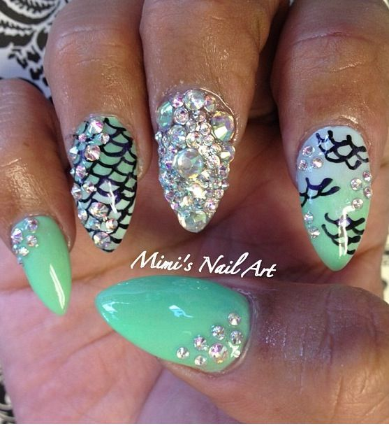 Pointy Nail Designs 2013