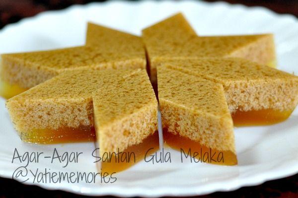 Agar Agar Santan Gula Melaka Food Malaysian Pinterest