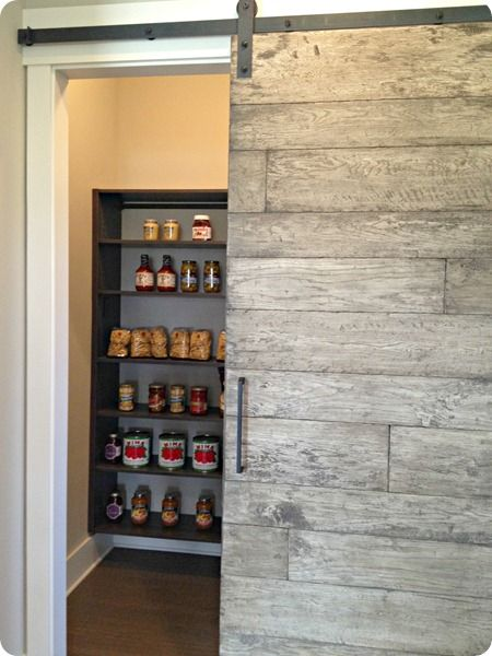 Sliding pantry door for the home pinterest for Sliding pantry doors