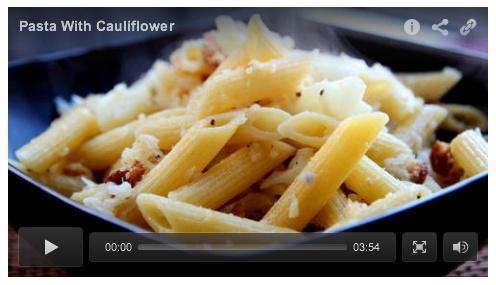 Authentic Italian recipe for Pasta with Cauliflower. Bread crumbs are ...