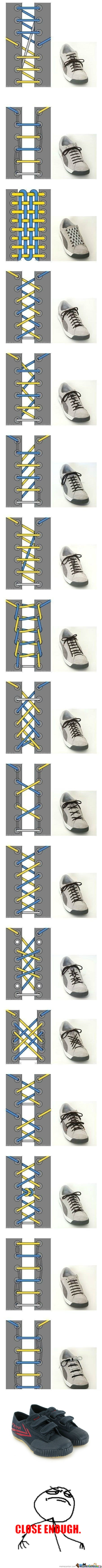 Cool Ways To Lace Shoes http://www.pinterest.com/pin
