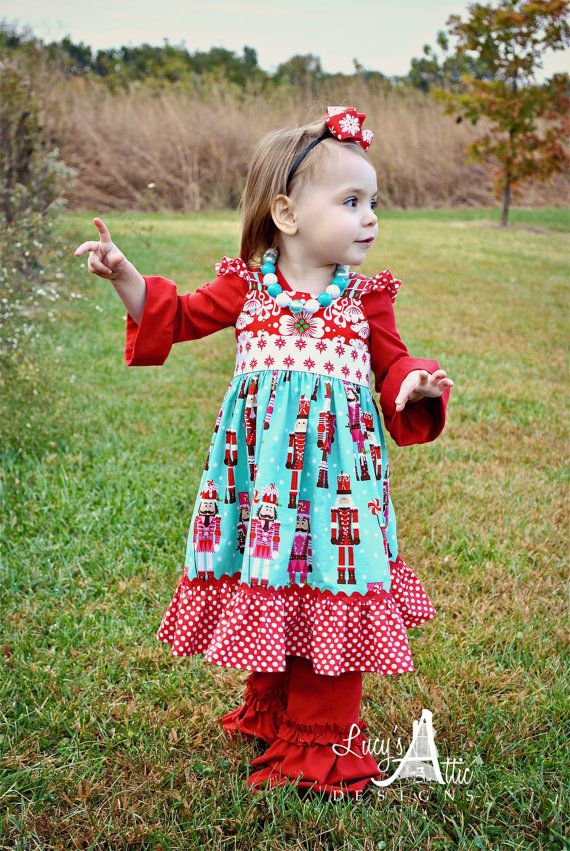 Nutcracker flutter knot christmas dress by lucysatticdesigns 56 00
