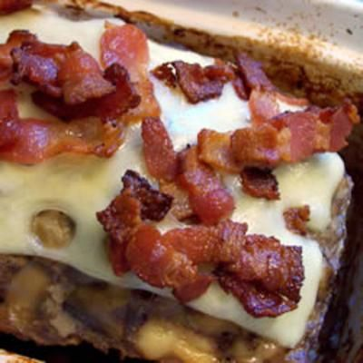 Bacon Mushroom Swiss Meatloaf- I personally hate mushrooms but i bet the hubby would like this