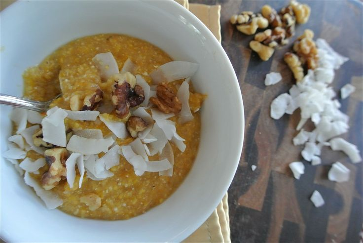 Sweet Butternut Squash Polenta, from The Candid RD Blog, #GlutenFree