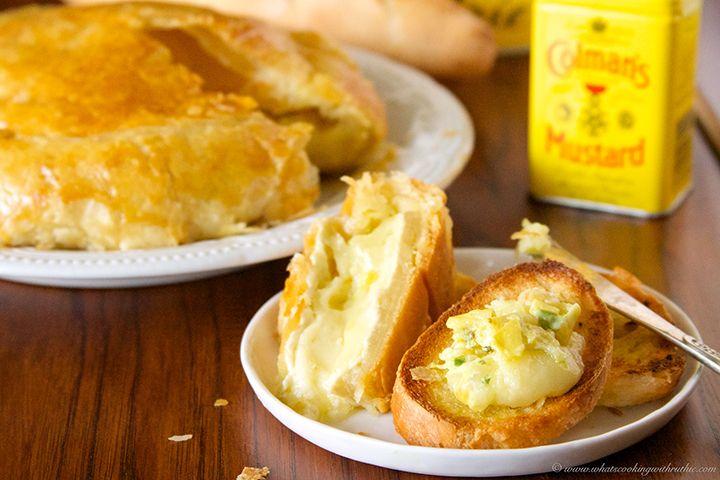 Artichoke Mustard Baked Brie is an absolutely amazing appetizer- it ...