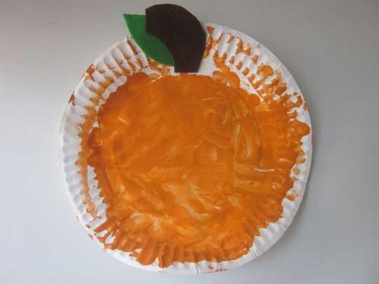 craft paper plate pumpkin activites pinterest