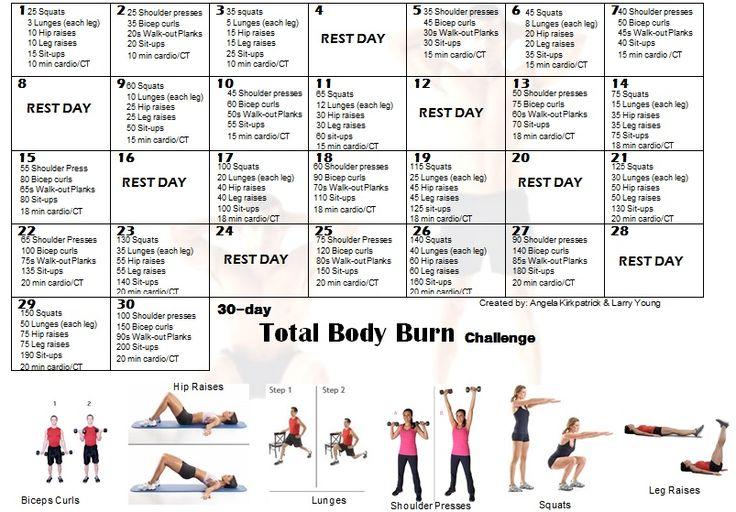 30 day total body challenge 30 day total body challenge