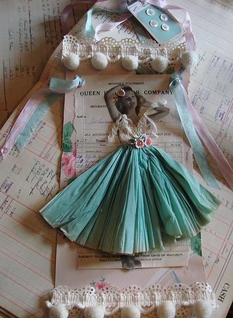 бумага искусство куклы