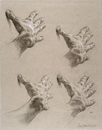 Dibujo clásico de las manos