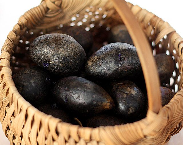 Purple Potatoes with Rosemary and Caramelized Onions | Recipe