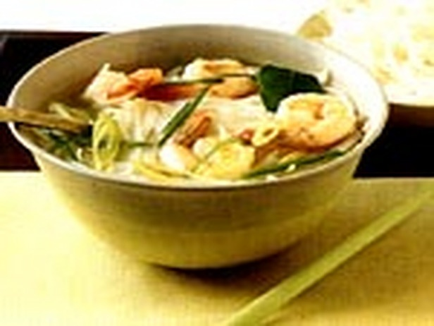 Hot and Sour Shrimp Soup with Noodles and Thai Herbs | Recipe