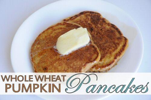 Whole Wheat Pumpkin Pancakes Recipe   Recipes   Pinterest