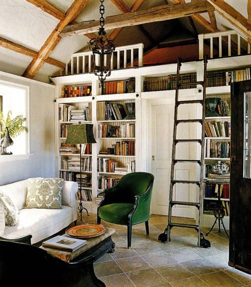 """I want a rolling ladder for my """"future library""""!"""