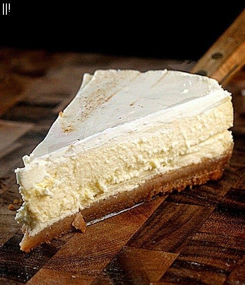 Skinny Sour Cream Topped Cheesecake | Desserts | Pinterest