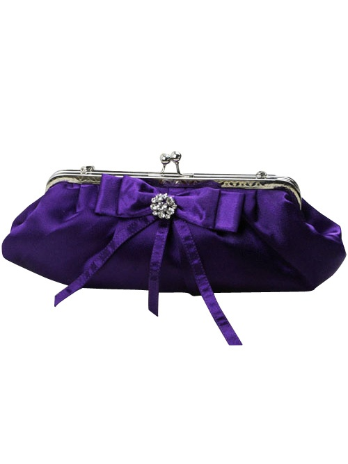 Purple wedding handbag