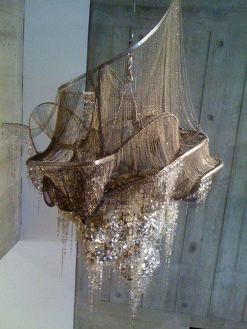 Fabulous deconstructed gold chandelier