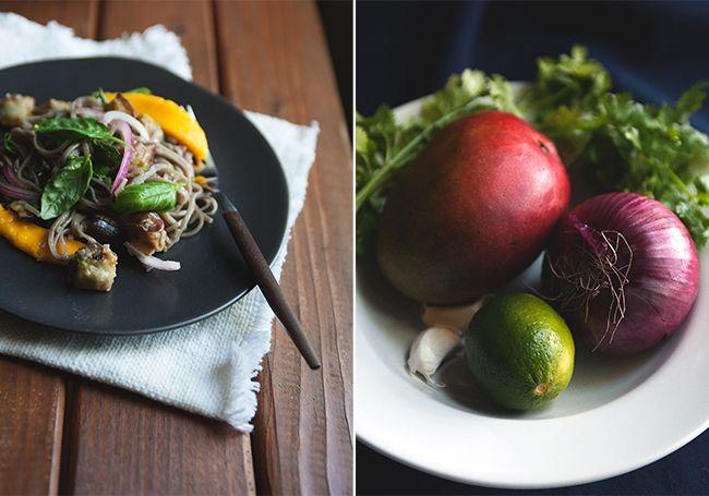 soba noodles with eggplant & mango | e a t s | Pinterest
