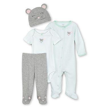 Carter s 4 pc mouse layette set girls newborn 9m jcpenney