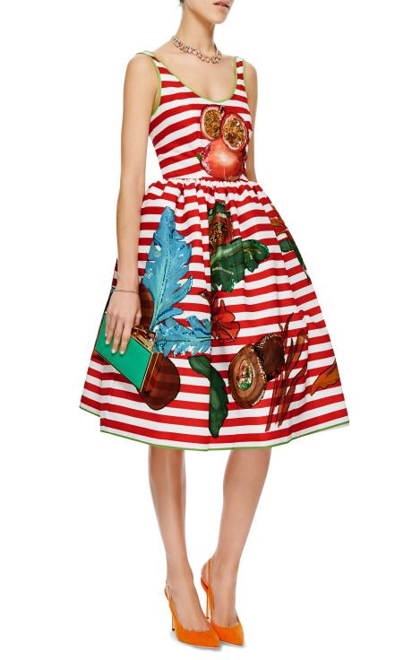 Nectarine Embellished Hand-Painted Dress by Stella Jean - Moda Operandi