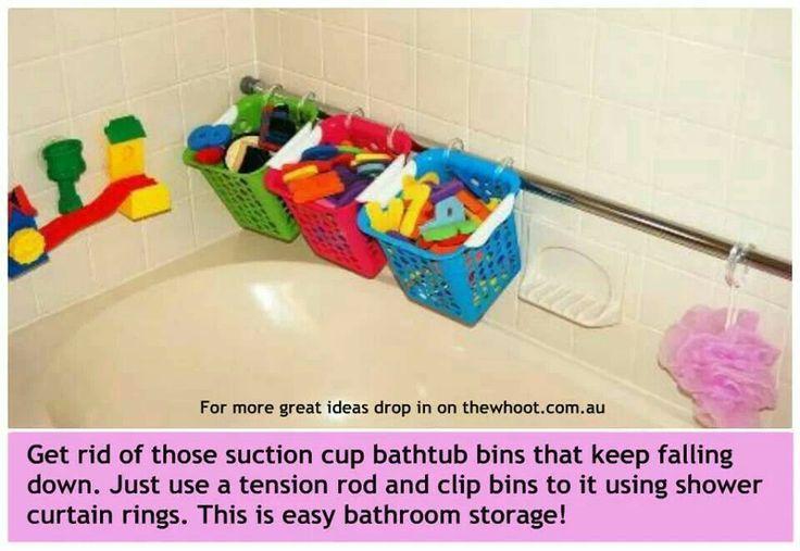 make your own bathtub Toy Storage | organization | Pinterest