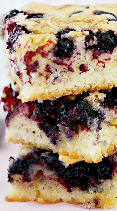 Blueberry Blondies Recipe ~ Berrylicious blondies with white chocolate ...