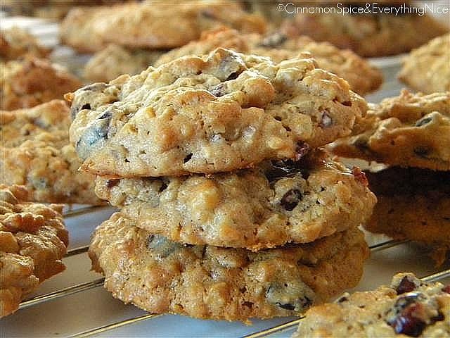 Peanut Butter Oatmeal Cookies w/ Cranberries & Walnuts