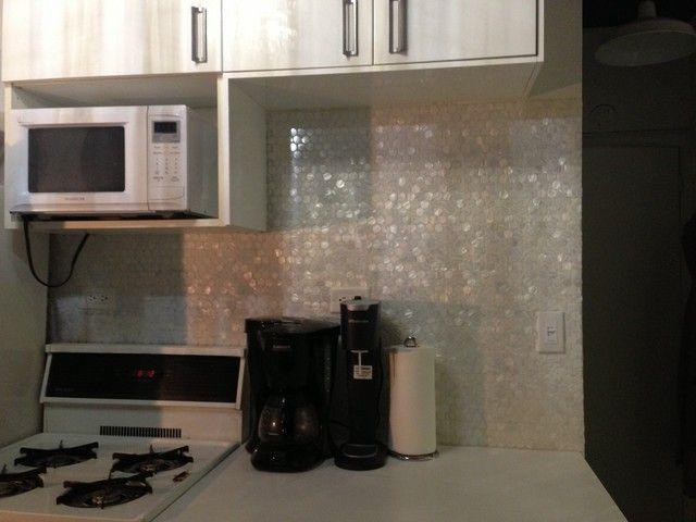 mother of pearl tile backsplash kitchen backsplash love