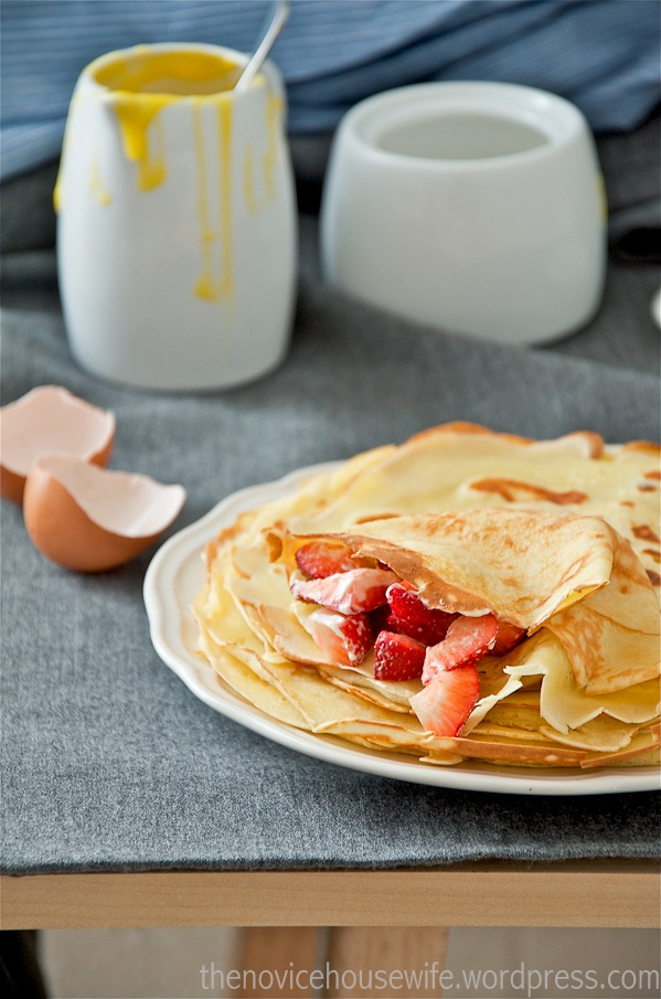 Crepes with Lemon Curd Whipped Cream