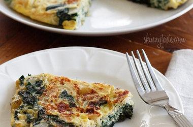 Light Swiss Chard Frittata | Recipes - Whats for dinner | Pinterest